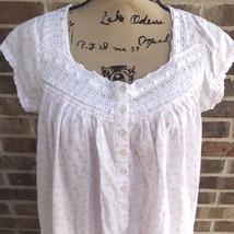 LANZ OF SALZBURG Cotton Floral Nightgown Lightweight Gown - $21.73