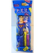 Superman Pez The Justice League cello pack DC Superheroes forehead hair curl - $3.25