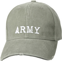 US Army Baseball Hat Vintage Style Embroidered ARMY Logo Olive Adjustabl... - $11.99