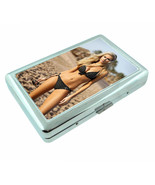French Pin Up Girls D2 Silver Metal Cigarette Case RFID Protection Wallet - $10.84