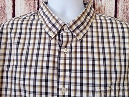 JOE Joseph Abboud Men's XXL 2XL Long Sleeve Button Front Shirt Windowpan... - $12.30 CAD