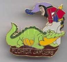 Disney Captain Hook -- and TicToc  Peter Pan Florida Jaycees pin/pin - $79.99