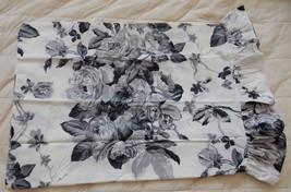 "Ralph Lauren ""Sargent Floral"" Ruffled Pillowcases King Black White (2) Vintage - $129.95"