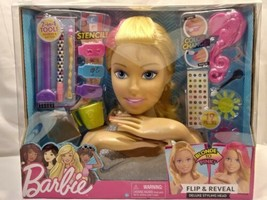 Barbie Flip & Reveal Deluxe Styling Head (19pc set, Blonde to Pink Barbie!) - $29.70
