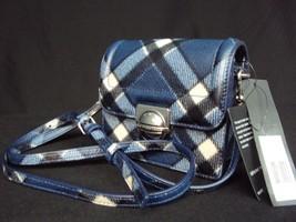 NWT MARC By Marc Jacobs Top Schooly Jax in Skipper Blue Plaid Shoulder/C... - $149.00