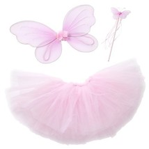 Fairy Princess Tutu Costume Set For Girls Dress up and Ballet Dance (M 3... - $22.62