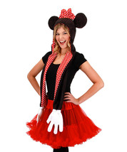 Disney Parks Mickey Mouse Snood Hat Cap & Gloves Attached image 2