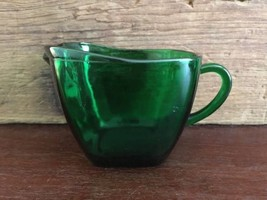 Anchor Hocking Glass Corp Fire King Charm Forest Green Creamer Lot 3 - $9.99