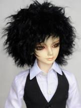 Short Black Curly Tibetan Mohair Wig for Volks BJD SD Dolls - $31.90