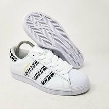 Adidas Damen Superstar Weiß Leopard Tiermuster Schwarz FV3452 US 7.5/UK 6 - $101.73