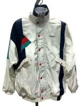 Vintage Ellesse Geometric 90s Windbreaker Full Zip Jacket Color Block Si... - $45.99