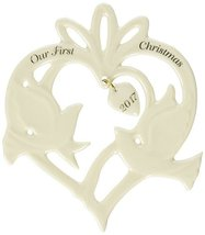 Lenox 869903 Annual China Ornaments 2017 Our First Christmas Together Doves - $10.90