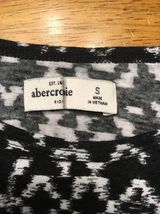Abercrombie Kid's Girl's Black & White Long Sleeve Shirt - Blouse - Size: Small image 4