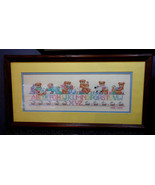 BEAUTIFUL! Matted & Framed VINTAGE CROSS STITCH SAMPLER  Infant/Nursery ... - $35.00