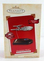 Hallmark Star Trek Ornament Enterprise NX-01 Voice 2002 - $29.69
