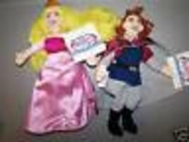 Disney Store Sleeping Beauty Aurora & Prince Phillip Bean Bag Plush Rag ... - $22.00