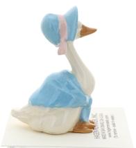Hagen-Renaker Miniature Ceramic Bird Figurine Goose Blue Mother with Bonnet image 3