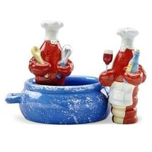 Red Lobster Pot Chef Cook Salt & Pepper Shaker S/P - $21.73