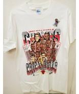 VINTAGE 1991 Salem Chicago Bulls NBA Champs T Shirt w/ STICKER! Michael ... - $140.06