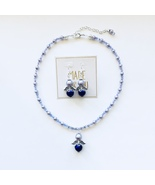 New Handmade Czec Glass, Lavender Crystal  beaded Angel Necklace with ... - $25.00