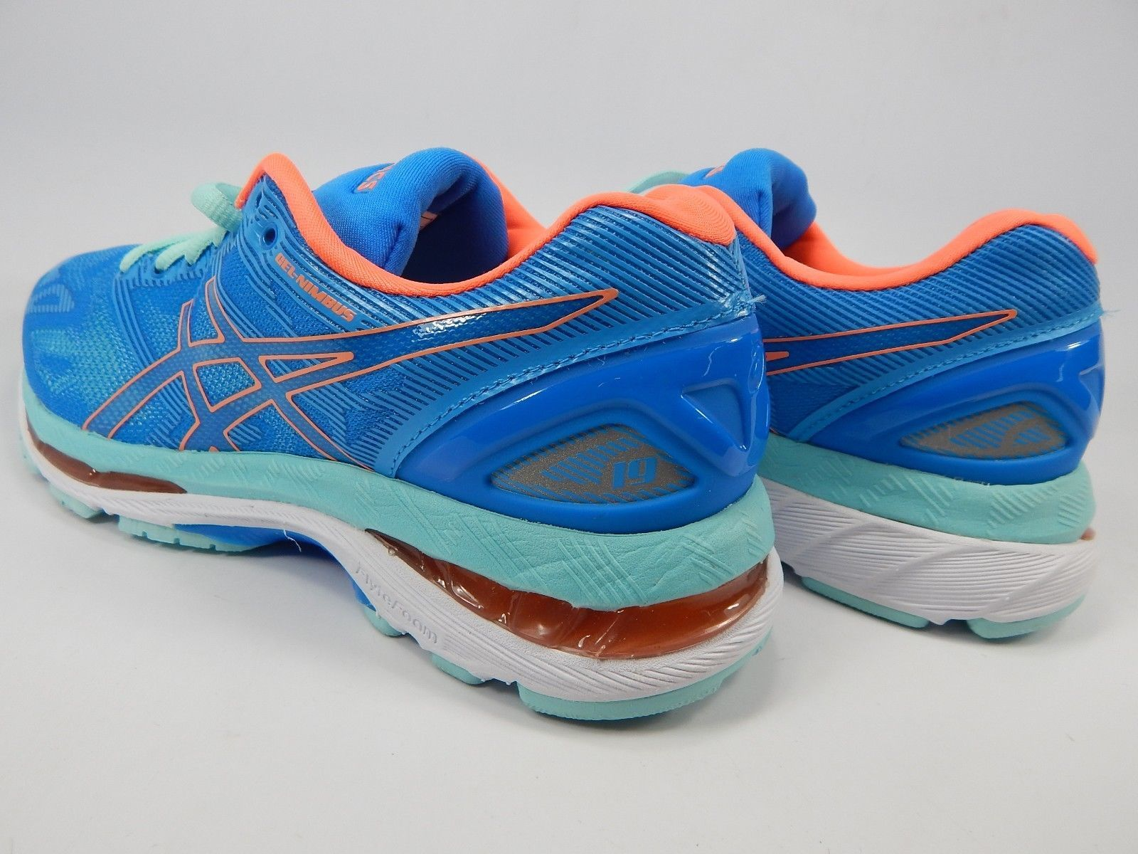 Asics Gel Nimbus 19 Size US 6 M (B) EU 37 Women's Running Shoes Aqua Blue T750N