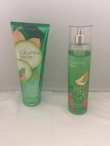 Bath & Body Works Cucumber Melon Set Fragrance Body Cream & Mist 8 Oz - $22.76