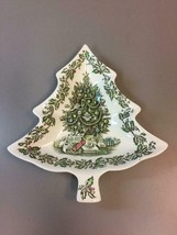 Johnson Brothers Merry Christmas Tree Candy Relish Cookie Dish Made in E... - $59.39