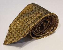 Robert Talbott Best Of Class Gold Blue Geometric Handsewn Silk Tie Neckt... - $32.71