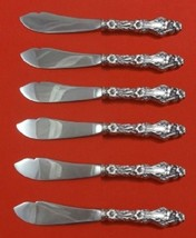 Lily By Whiting Sterling Silver Trout Knife Set 6pc HHWS Custom - $749.55
