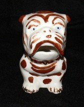 """Vintage Sitting French Bulldog Ceramic Container 5"""" Tall  cc - $14.99"""