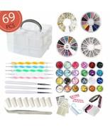 Aifaifa 69Pcs Diy Nail Art Tools Decoration Manicure Kit, Glitter Nail R... - $27.71