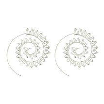 Bracet Spiral Hoop Earrings Stud Bohemian Vintage Tribal Swirl Style Adj... - $8.43
