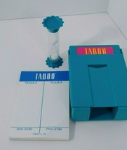 Taboo sand timer card holder score pad board game replacement  pieces parts - $8.90