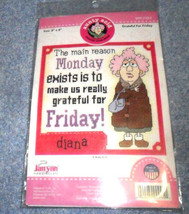 Greatful For Friday Aunty Acid Monday  Counted Cross Stitch Kit 8 x 8 - $6.14