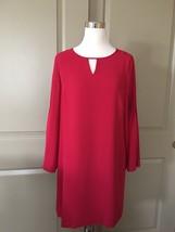 NWT ANN TAYLOR Pleat Sleeve Keyhole Shift Dress Bollywood Pink Size 10P - $49.99