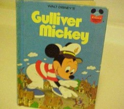 Kids Book Disney Gulliver Mickey Mouse Hardcover Vintage Illustrated - $12.87
