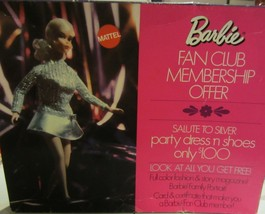 Barbie fan club membership offer salute to silver - $380.00