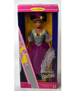 Mattel French BARBIE Girls Doll NIB Traditional Red Hat Magenta Dress World - $18.99