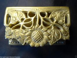 Vintage French Rococo Gilt Ormolu Brass Trinket Jewellery Pill Box - $154.42
