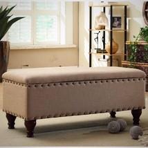 Storage Bench Nail Head Trim Home Decoration Li... - $140.28