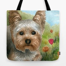 Tote bag All over print Dog 117 Yorkshire art painting by L.Dumas - $26.99+