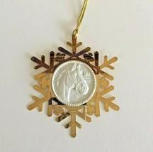 Breyer Christmas Ornament  - 2000 Snowflake Brass & Porcelain Horse - $12.99