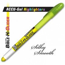 Highlighter ACCU-Gel Bible Hi-Glider Yellow Brand NEW No Bleed Thru - $7.76