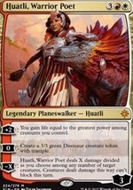 Magic Gathering Huatli Warrior Poet Planeswalker Single Card Mint Free S... - $6.00