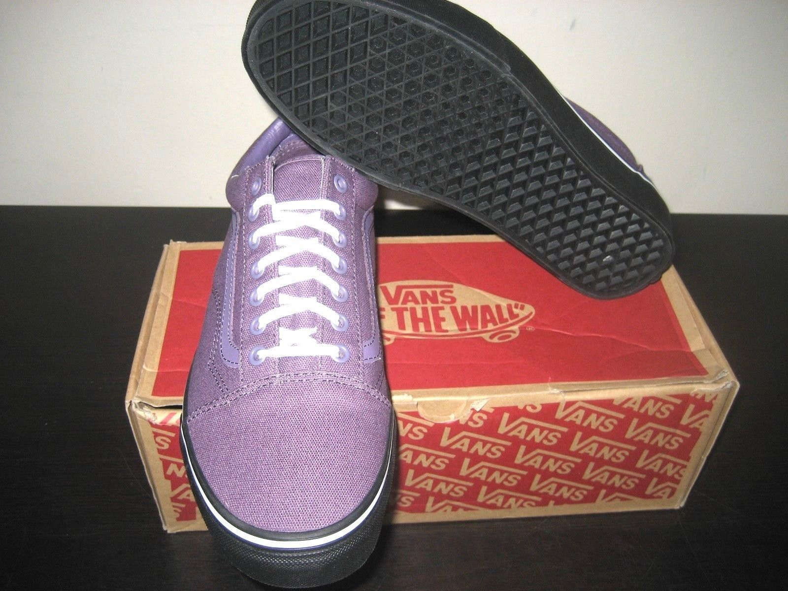Vans Mens Old Skool Black Outsole Montana Grape Purple Skate shoes Size 9.5 NWT