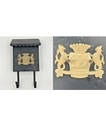 Vintage Wall Mailbox Metal Mythical Sea Monster Seahorse Creatures Crest... - $74.95
