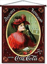 Coke Victorian Lady Canvas - $20.00