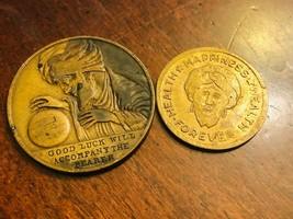 2 Magic Tokens Good Luck Will Accompany the Bearer & Lucky Talisman of O... - $31.68