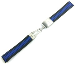 Black/Blue Rubber Silicone Strap Band for Tissot Sport Watch T-Race 21mm... - $26.98+