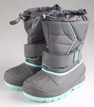 Cat & Jack Boys Kids Youth Gray Cordie Thermolite Insulation Winter Boots